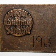 Trofeos y medallas: MEDALLA DE SCHOLA CANTORUM (SABADELL). ANTIGUA ACADÈMIA CATÒLICA. FUNDADA POR LLUÍS CARRERAS I MAS. Lote 197649861