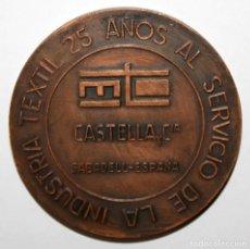 Trofeos y medallas: MEDALLA EN BRONCE DE LA COMPAÑIA CASTELLA Y CIA (SABADELL). Lote 197650875
