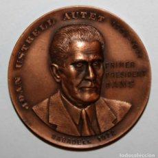 Trofeos y medallas: MEDALLA REPRESENTATIVA DE JOAN USTRELL AUTET (1905-1971). AGRUP. NUMISMATICA SABADELL. FIRMADO PUJOL. Lote 198081157