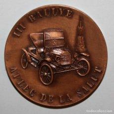Trofeos y medallas: MEDALLA CONMEMORATIVA III RALLYE APLEC DE LA SALUT. SABADELL, 13 MAYO DEL 1973. FIRMADO PUJOL. Lote 198082746