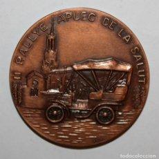 Trofeos y medallas: MEDALLA CONMEMORATIVA II RALLYE APLEC DE LA SALUT. SABADELL, 12 MAYO DEL 1972. FIRMADO PUJOL. Lote 198085062