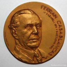 Trofeos y medallas: MEDALLA CONMEMORATIVA DEL EMPRESARIO FERRAN CASABLANCAS (SABADELL 1874-BARCELONA 1960). Lote 198097556