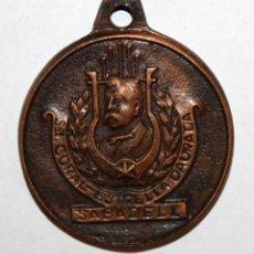 Trofeos y medallas: MEDALLA CONMEMORATIVA DE SOCIETAT CORAL ESTRELLA DURADA (SABADELL). HOMENATGE MAGÍ TORRAS. Lote 198115232