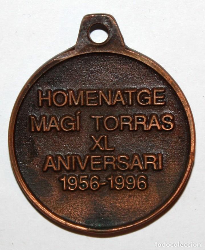 Trofeos y medallas: MEDALLA CONMEMORATIVA DE SOCIETAT CORAL ESTRELLA DURADA (SABADELL). HOMENATGE MAGÍ TORRAS - Foto 2 - 198115232