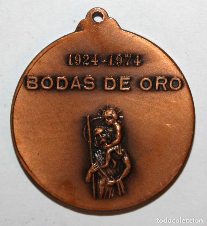Trofeos y medallas: MEDALLA CONMEMORATIVA DEL 50º ANIVERSARIO MUTUA SOCORROS AUTO-MOTORISTA SABADELL (1924-1974) - Foto 2 - 198116146