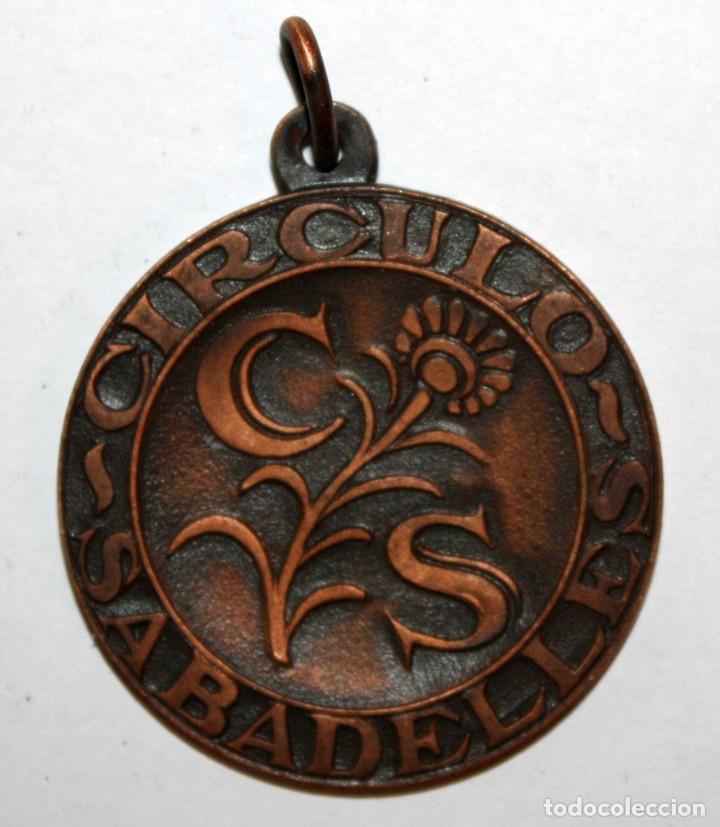 MEDALLA EN COBRE DEL CIRCULO SABADELLES. SABADELL (Numismática - Medallería - Trofeos y Conmemorativas)