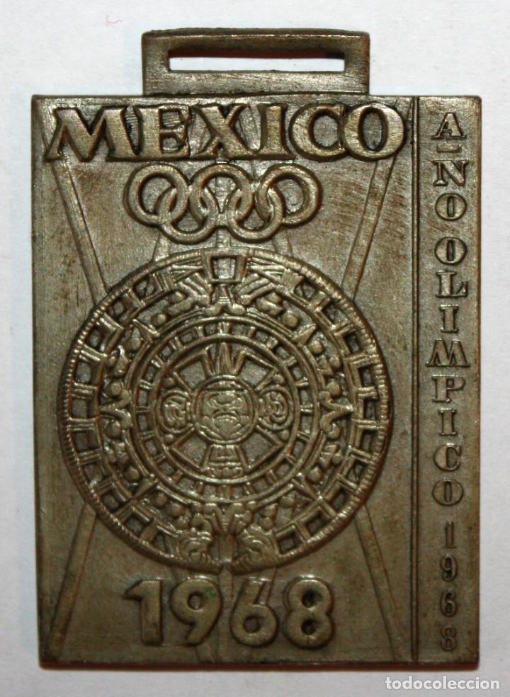 MEDALLA CONMEMORATIVA DE XX JUEGOS ESCOLARES NACIONALES. FED. ESP. NATACIÓN. AÑO OLIMPICO (1968) (Numismática - Medallería - Trofeos y Conmemorativas)