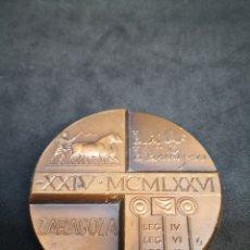 Trofeos y medallas: MEDALLA CONMEMORATIVA SEGUNDO MILENARIO ZARAGOZA. Lote 198355101