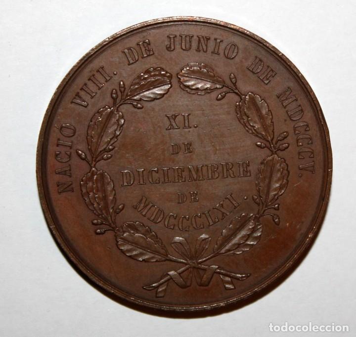 Trofeos y medallas: MEDALLA DEL POLITICO Y ESCRITOR VASCO SALUSTIANO DE OLOZAGA. ESCULTOR ALBERTO ESTRUCH - Foto 3 - 198408942