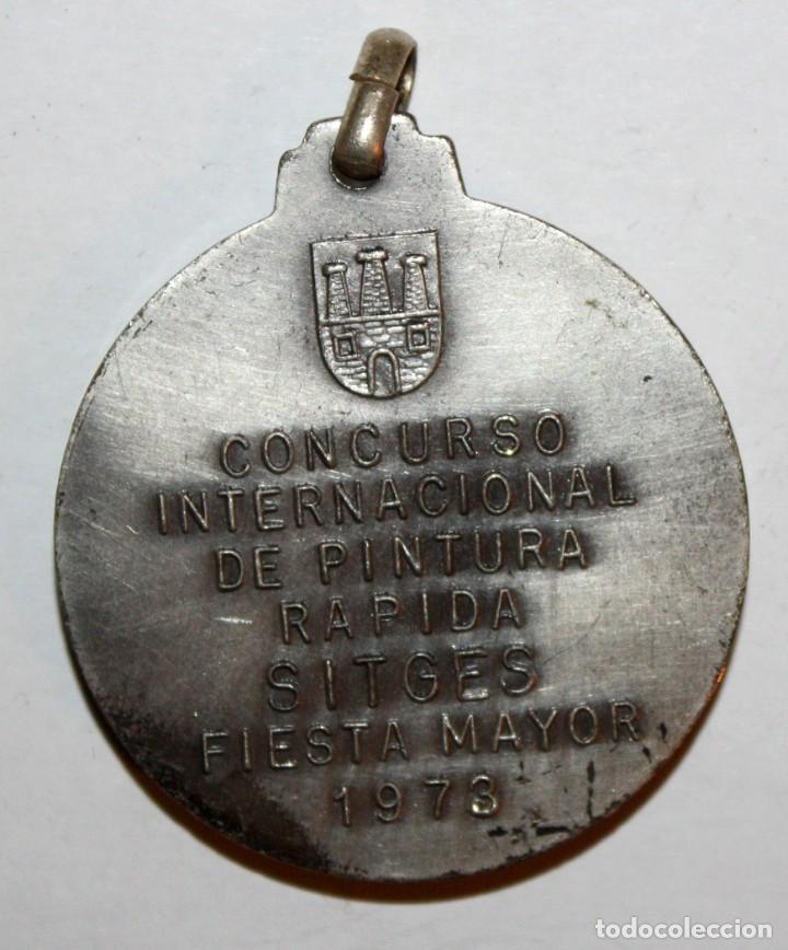 Trofeos y medallas: MEDALLA CONMEMORATIVA CONCURSO INTERNACIONAL DE PINTURA SITGES (1973). ISIDRE NONELL. FIRMADO PUJOL - Foto 3 - 198711531