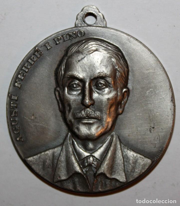 MEDALLA CONMEMORATIVA CONCURSO INTERNACIONAL DE PINTURA SITGES (1972). AGUSTÍ FERRÉ I PINO. PUJOL (Numismática - Medallería - Trofeos y Conmemorativas)