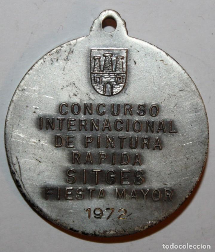 Trofeos y medallas: MEDALLA CONMEMORATIVA CONCURSO INTERNACIONAL DE PINTURA SITGES (1972). AGUSTÍ FERRÉ I PINO. PUJOL - Foto 3 - 198712070
