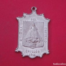 Trofeos y medallas: MEDALLA ANTIGUA VIRGEN DEL CASTILLO. CHILLÓN AÑO 1914 CIUDAD REAL.. Lote 199675648