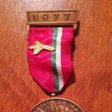 Trofeos y medallas: MEDALLA PROTECTION DES ANIMAUX 1977. Lote 200061182