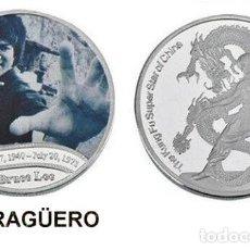 Trofeos y medallas: MEDALLA PLATA TIPO MONEDA ( HOMENAJE DE BRUCE LEE ) PESO 36 GRAMOS LEER DENTRO DESCRIPCION - Nº5. Lote 200080532