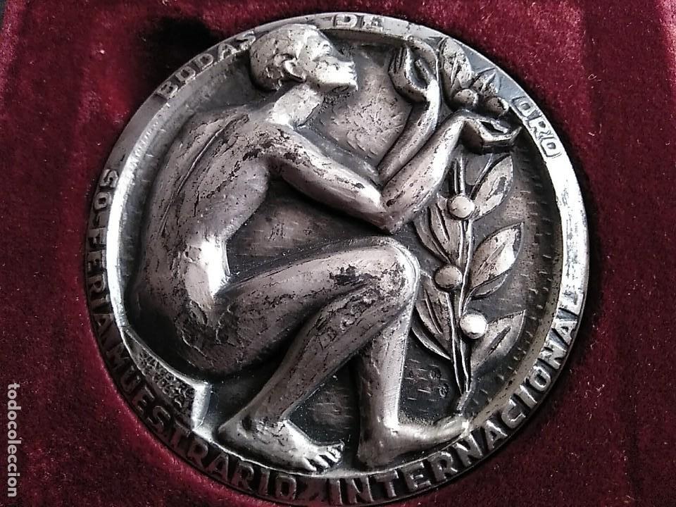 SILVESTRE DE EDETA. .FERIA MUESTRARIO INTERNACIONAL,BODAS ORO.50 ANIVERSARIO.1972. VALENCIA (Numismática - Medallería - Trofeos y Conmemorativas)