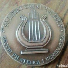 Trofeos y medallas: MEDALLA SOCIETAT LA LIRA.INAUGURACIÓ MERCAT SANT ANDREU PALOMAR. BARCELONA. 1978. Lote 200264047