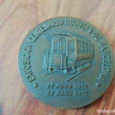Trofeos y medallas: MEDALLA EXPOSICIÓN CENTENARIO DE TRANVIAS BARCELONA. 1972. Lote 200264372