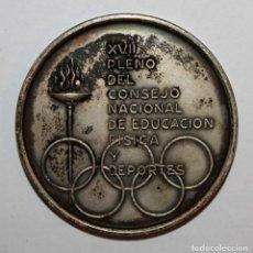 Trofeos y medallas: MEDALLA CONMEMORATIVA XVII PLENO DEL CONSEJO NACIONAL DE EDUCACION FISICA. FIRMADO A. SERRAHIMA. Lote 200518312