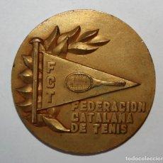 Trofeos y medallas: MEDALLA FEDERACION CATALANA DE TENIS. TROFEO MARQUES DE CASTELL FLORITE. AÑO1973. Lote 200556025