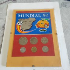 Trofeos y medallas: CUADRO CON LAS MONEDAS DEL MUNDIAL ESPAÑA 82. Lote 200635600