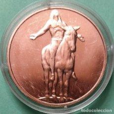Trofeos y medallas: ESTADOS UNIDOS - MEDALLA DE COBRE SERIE INDIA - LLAMAMIENTO AL GRAN ESPÍRITU - 999 PURO, ENCAPSULADA. Lote 202599172