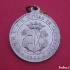 Trofeos y medallas: MEDALLA FIESTA DEL ARBOL 2º AÑO - ESCUDO M.N.M.L. Y H. CIUDAD DE CALAHORRA 1903. Lote 202900618