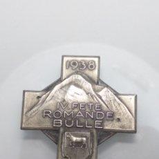 Trofeos y medallas: ANTIGUA MEDALLA DE HUGUENIN FRERES 1938 SUIZA IV ROMANDE BULLE. Lote 203280625