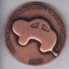 Trofeos y medallas: MEDALLA DEL SALON INTERNACIONAL DEL AUTOMOVIL DE BARCELONA DEL AÑO 2001 - DIAMETRO 6 CM. Lote 205270092