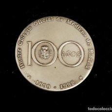 Trofeos y medallas: MEDALLA DE PLATA 925 CENTENARIO ILUSTRE COLEGIO OFICIAL DE MÉDICOS DE MADRID. 1998. CON ESTUCHE. Lote 205304748