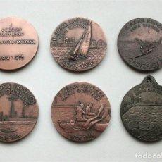 Trofeos y medallas: COLECCIÓN DE 6 MEDALLAS DE LOS JUEGOS NÁUTICOS BAHÍA DE CÁDIZ. AÑOS 1975 A 1980. Lote 205398182