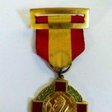 Trofeos y medallas: MEDALLA PREMIO AL MERITO, CON CINTA Y PASADOR. Lote 206149916