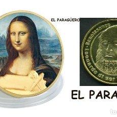 Trofeos y medallas: MEDALLA ORO TIPO MONEDA ( 500 ANIVERSARIO DE LEONARDO DA VINCI - MONA LISA ) PESO 38 GRAMOS Nº7. Lote 206478877
