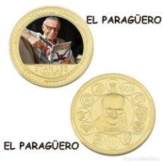 Trofeos y medallas: MEDALLA ORO TIPO MONEDA ( 98 ANIVERSARIO DE STAN LEE ) PESO 32 GRAMOS Nº1. Lote 206484932