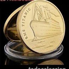 Trofeos y medallas: TITANIC MEDALLA ORO TIPO MONEDA ( HOMENAJE AL TITANIC Y VICTIMAS ) PESO 32 GRAMOS Nº2. Lote 206496552