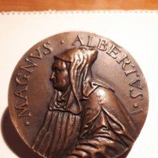 Trofeos y medallas: MEDALLA EN BRONCE, MAGNUS ALBERTVS. XXVIII CONGRESO INTERNACIONAL DE QUÍMICA INDUSTRIAL MADRID 1955. Lote 207031687