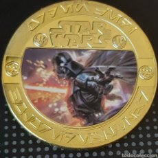 Trofeos y medallas: EXCLUSIVA MONEDA DE ORO DE LA COLECCIÓN DE STAR WARS. Lote 207191853
