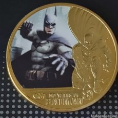 Trofeos y medallas: EXCLUSIVA MONEDA DE ORO DE COLECCIÓN DE BATMAN. Lote 207191910