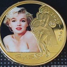 Trofeos y medallas: EXCLUSIVA MONEDA DE ORO DE COLECCION DE MARILYN MONROE!!!! MONEDA 4. Lote 207192040