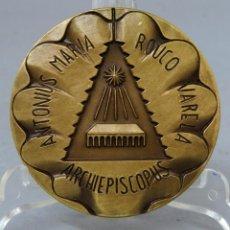 Trofeos y medallas: MEDALLA BRONCE ARZOBISPO ROUCO VARELA CONMEMORATIVA AÑO COMPOSTELANO 1993. Lote 207922861