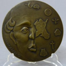 Trofeos y medallas: MEDALLA DE BRONCE CENTENARIO SAN BERNARDO GALICIA Y PORTUGAL ORENSE 1991. Lote 207934561