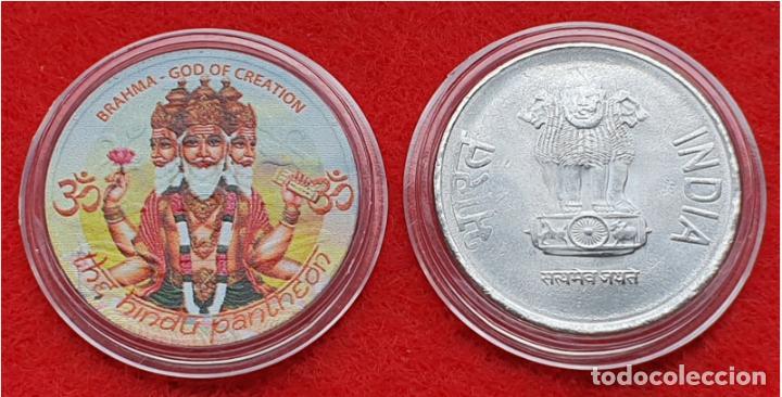INDIE 2RS COLOR BRAHMA (Numismática - Medallería - Trofeos y Conmemorativas)