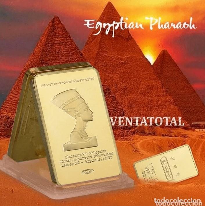 LINGOTE ORO EGIPTO CLEOPATRA - COLECCION (Numismática - Medallería - Trofeos y Conmemorativas)