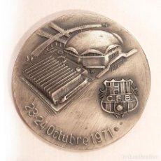 Trofeos y medallas: MEDALLA DE INAUGURACION PLOIDEPORTIVO Y PISTA DE HIELO BARÇA 1971 PLATA DE LEY. Lote 210222690