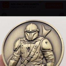 """Trofeos y medallas: ESPECTACULAR MONEDA DE STAR WARS """" THE MANDALORIAN """". Lote 210235230"""