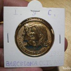 Trofeos y medallas: MEDALLA CONMEMORATIVA BODA IÑAKI Y CRISTINA - BARCELONA OCTUBRE 1997. Lote 210321147