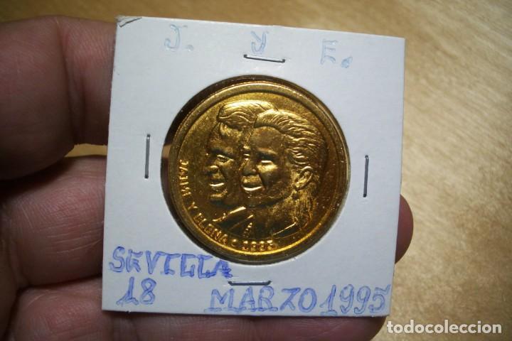MEDALLA CONMEMORATIVA BODA JAIME Y ELENA - SEVILLA 18 MARZO 1995 (Numismática - Medallería - Trofeos y Conmemorativas)