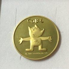 Trofeos y medallas: MEDALLA CONMEMORATIVA OLIMPIADA BARCELONA'92, COBI. ORO 22 KILATES. COMPROBADA. PESO 17.50 GRAMOS.. Lote 190977117