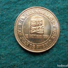 Trofeos y medallas: MONEDA BANESTO CON AVENTURA 92 RUMBO AL MUNDO MAYA SAN JUAN DE PUERTO RICO 1ª CECA NAVEGANTE. Lote 211489676