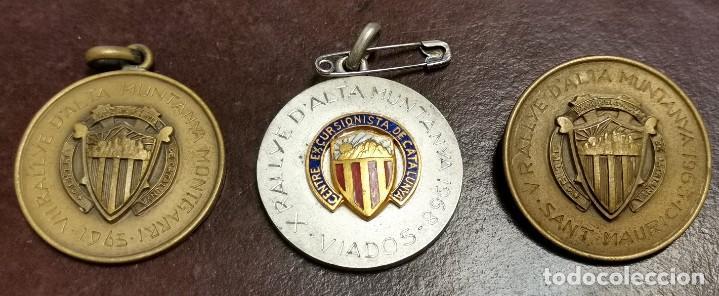 NUMULITE * MEDALLA RALLYE D ALTA MUNTANYA CENTRE EXCURSIONISTA DE CATALUNYA MONTAÑA 3 UNIDADES (Numismática - Medallería - Trofeos y Conmemorativas)